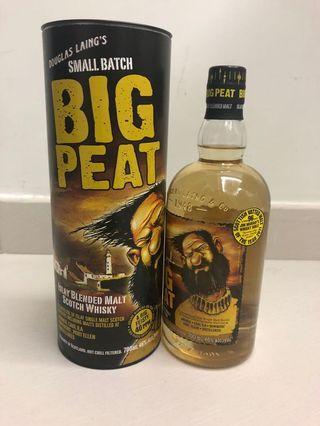 Big peat islay blended malt whiskey