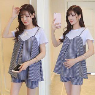 Maternity 2 pc top and shorts