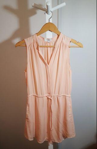 Aritzia Babaton Coral Dress 100% Silk - Small