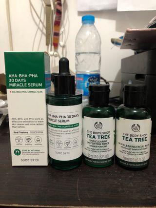 Some By Mi Miracle Serum free The Body Shop Tea Tree