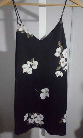 Dynamite Floral Satin Slip Dress - Size Small