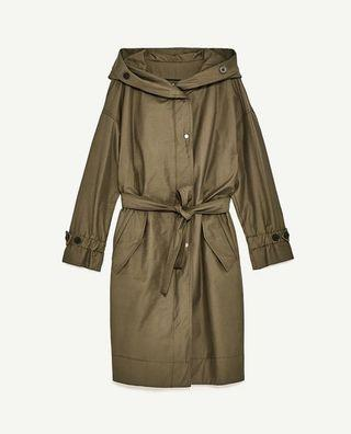 Zara Hood Trench Coat