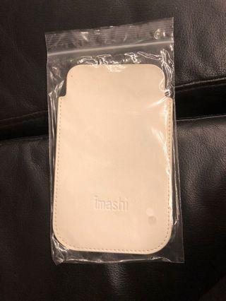 iMashi Leather Pouch dimension 9cm by 14.5cm White color