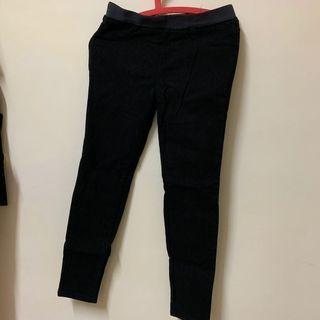 🚚 黑色彈性褲(厚)