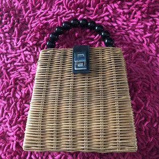 rotan bag zara woman ( ada tali panjang)