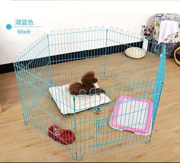 Dog fence , pee tray, bowl , dog bed and free pee pad All in one price