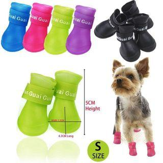 🚚 Dog puppy pet water proof shoes boots