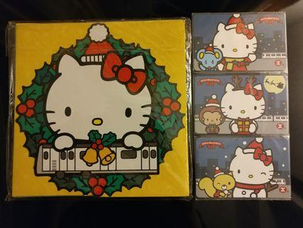 Mtr 地鐵 港鐵 Hello Kitty 聖誕 紀念車票