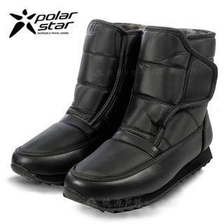 Polarstar  雪靴 靴子 厚 超暖 冰上行走 43號 防潑水 短筒 保暖 雪鞋 黑 冰爪