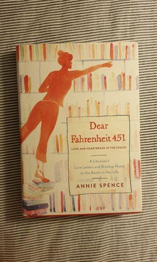 🚚 Dear Farenheit 451 by Annie Spence