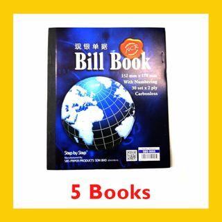 [5 BOOKS] Carbonless Bill Book with Numbering 30 sets x 2ply – SBS0005 (152MM x 178MM)