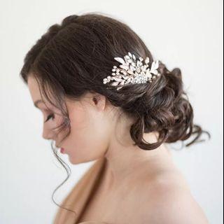 歐美 高貴 復古 新娘髮飾