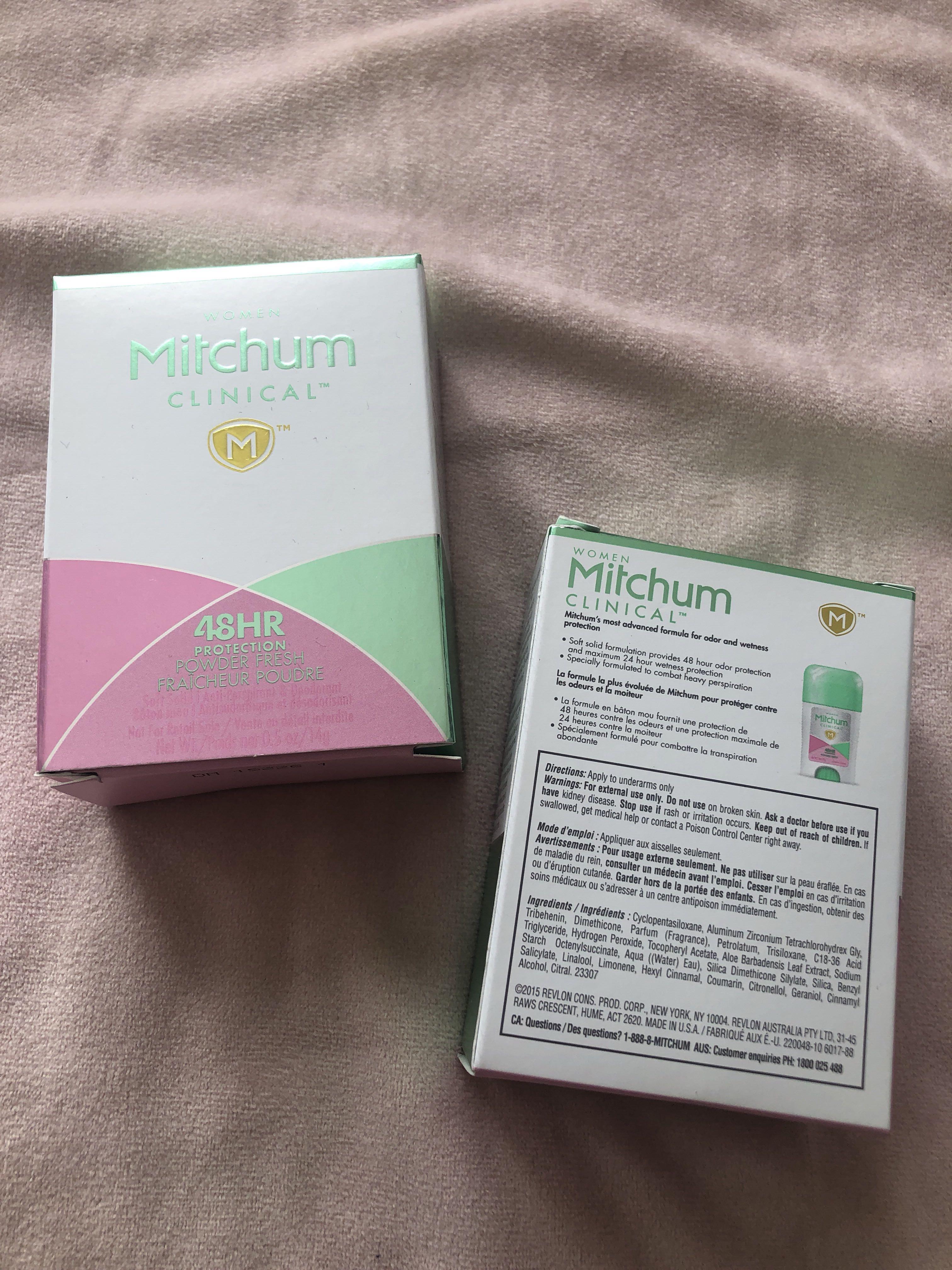 2x Mitchum Clinical Women's Anti-Perspirant & Deodorant
