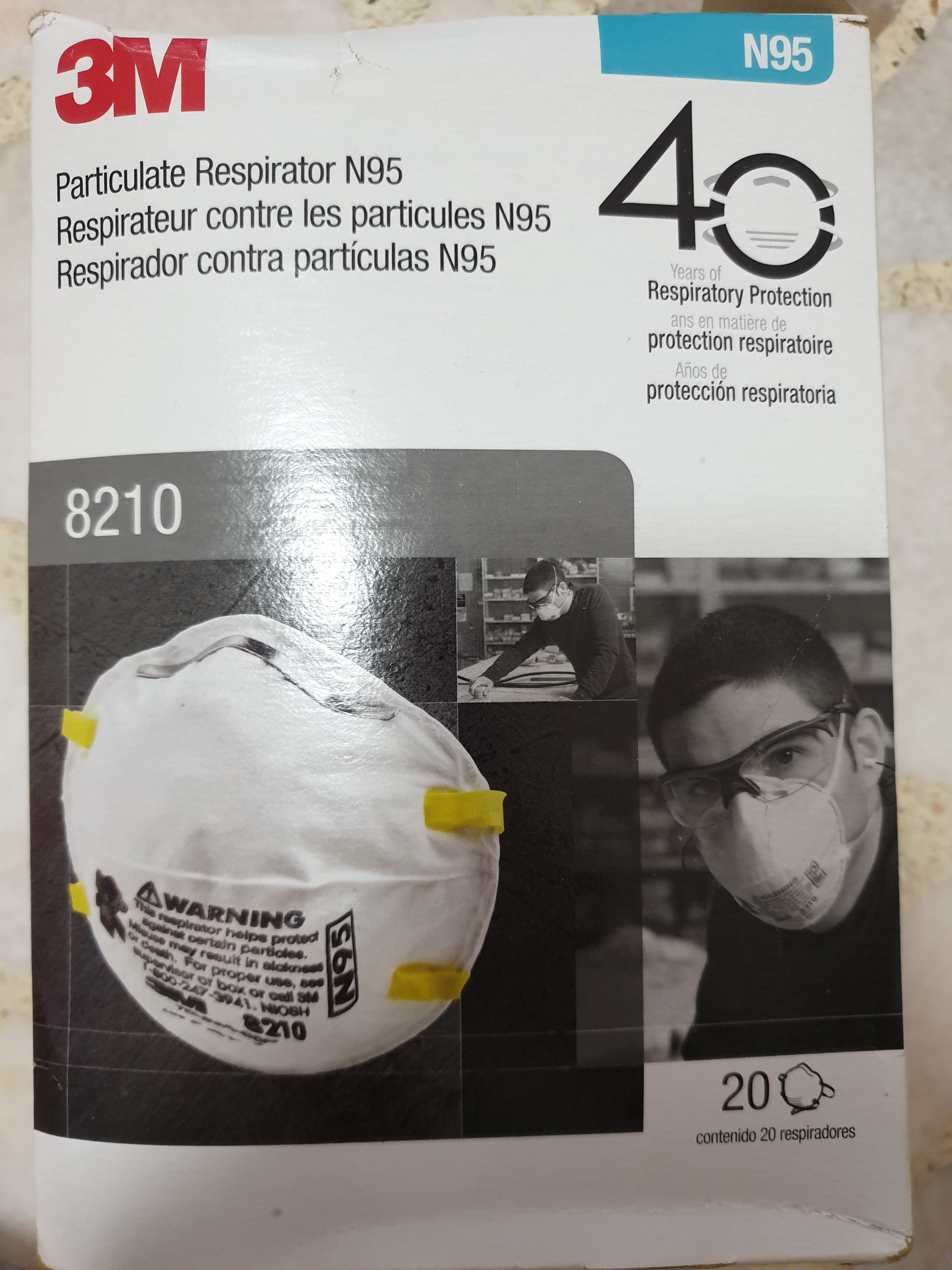 Else 3m Of On N95 Everything 8210 - Carousell Mask 20 Box model