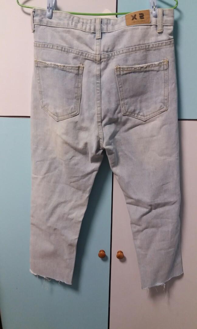 韓國製造 牛仔褲 jeans 中碼 M size