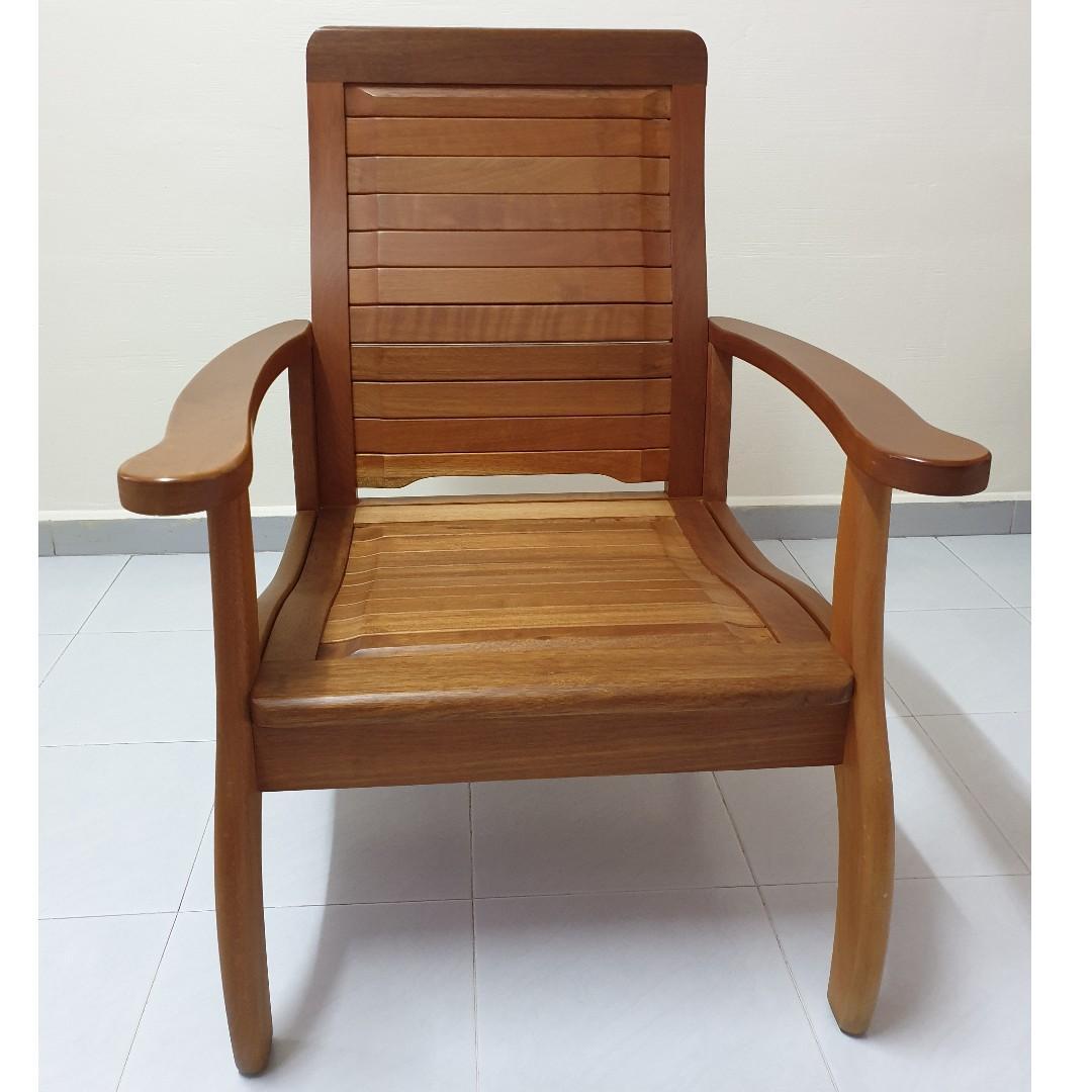 Antique Wood Frame Sofa (3 seater + single seater)