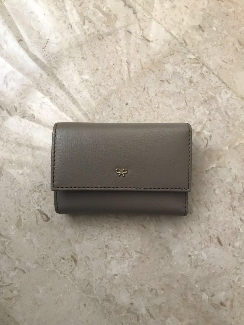 92b59103d2c Anya Hindmarch short brown wallet, Luxury, Bags & Wallets, Wallets ...