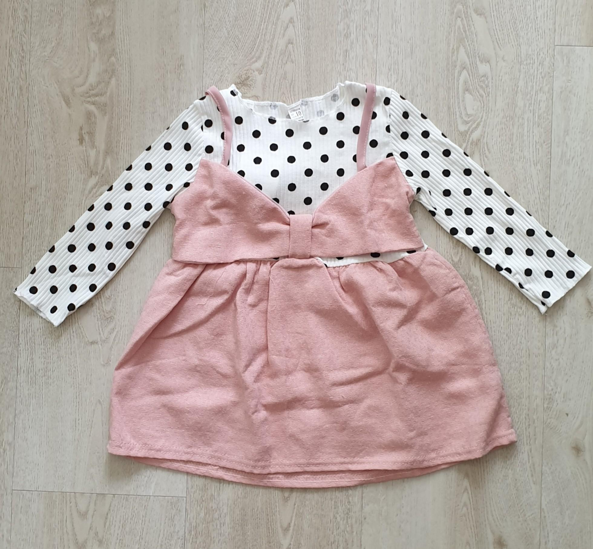 Baby Girl Dress / Party Dress / Pink Bow Dress