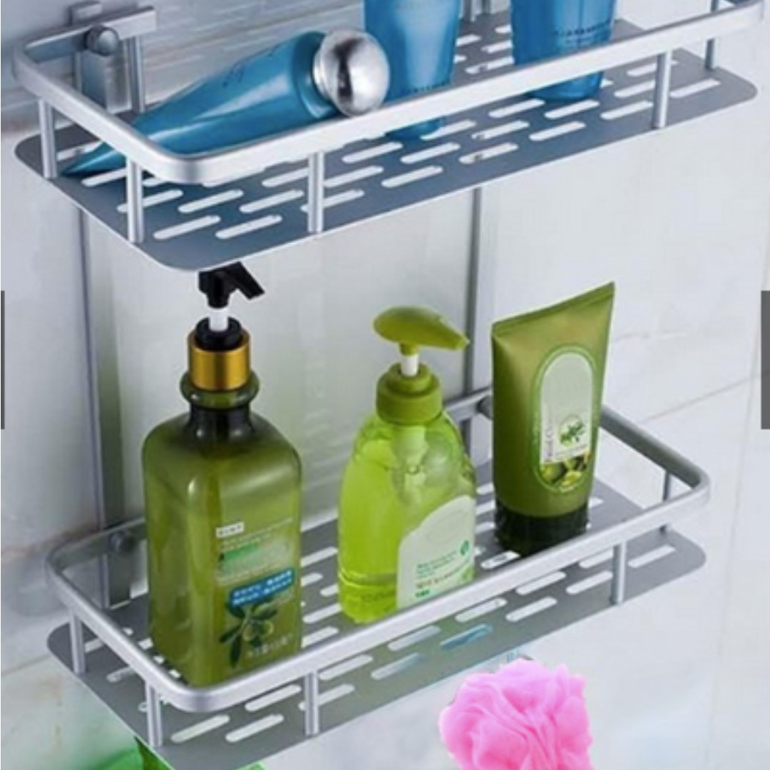 Bathroom Shower Wall Soap Shampoo Bottle Storage Shelf Holder Stand