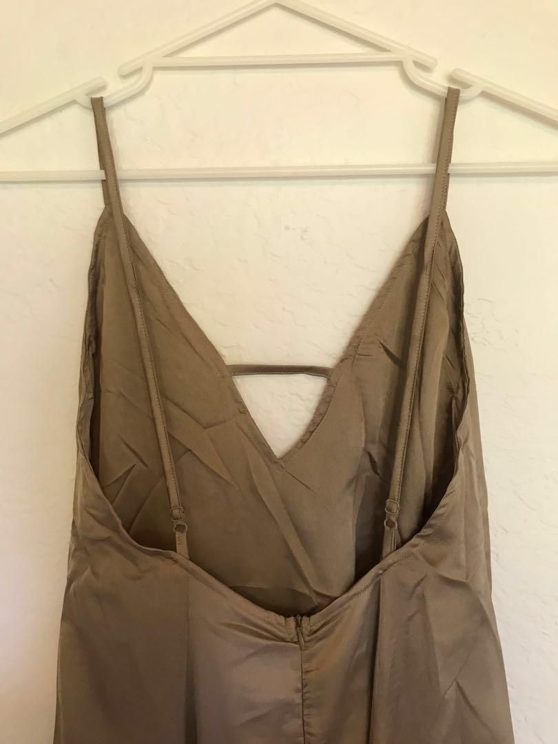 BNWT Maxi Slip Silk Dress