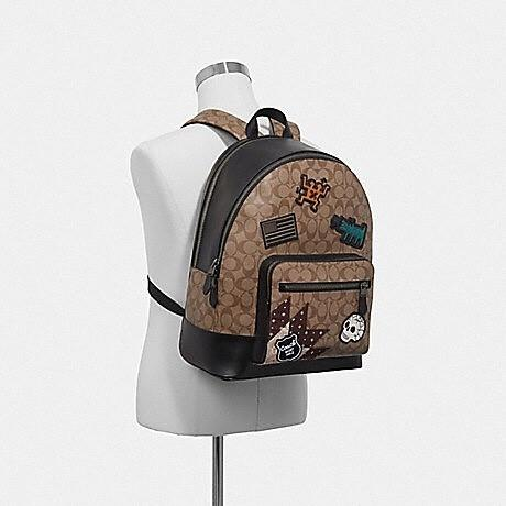 Coach Keith Haring West Backpack size 40x33 in Signature Canvas with Patches