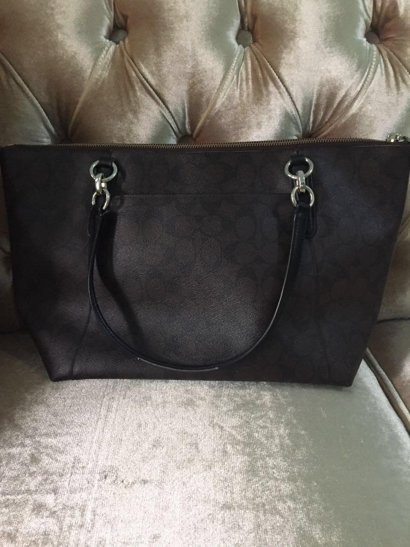Coach signature PVC Ava Tote colour Brown Black