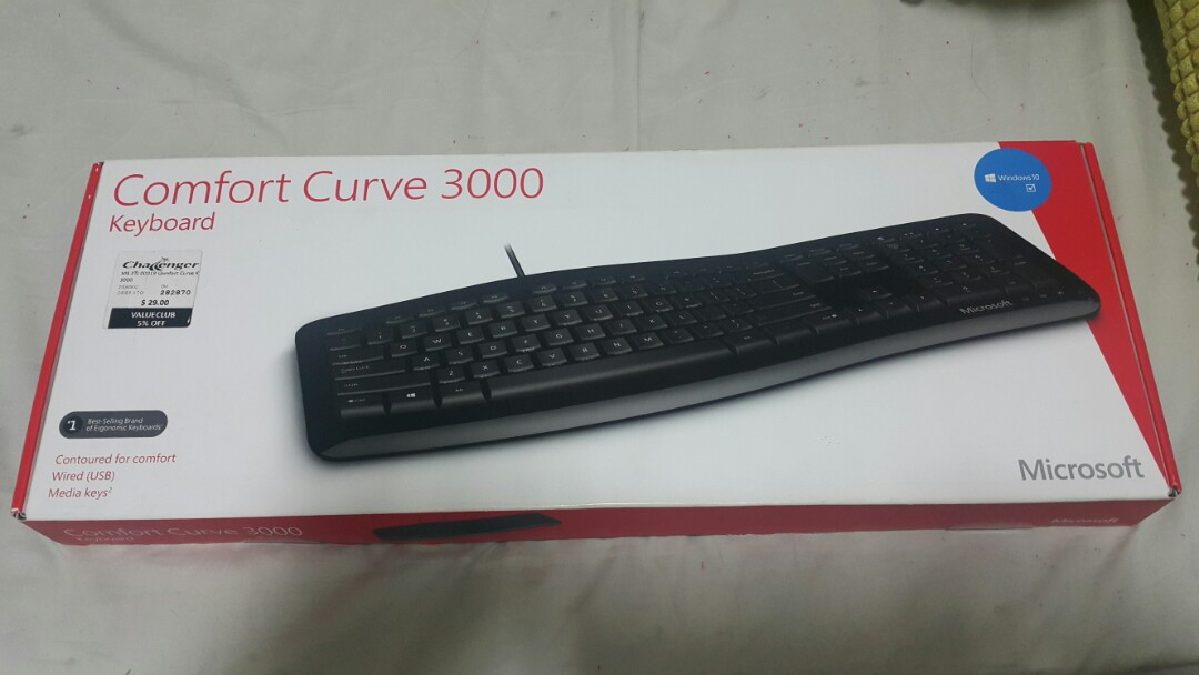 e968fdda7a4 Comfort Curve 3000 Keyboard, Electronics, Computer Parts & Accessories on  Carousell