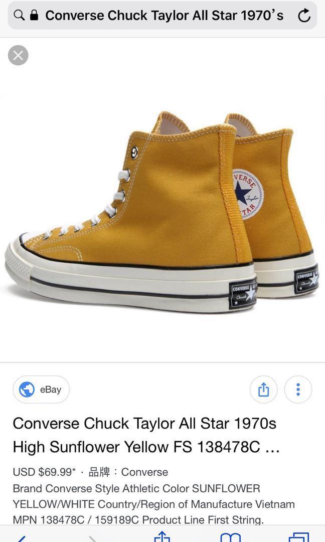 16052972ba03 Converse Chuck Taylor All Star 1970 s
