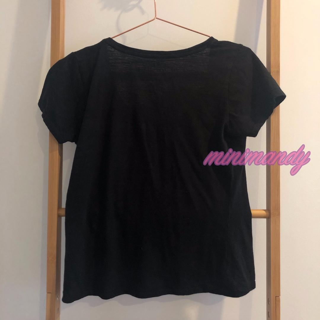COTTON ON loose fit black top basic T-shirt scoop neck short sleeves tee size S
