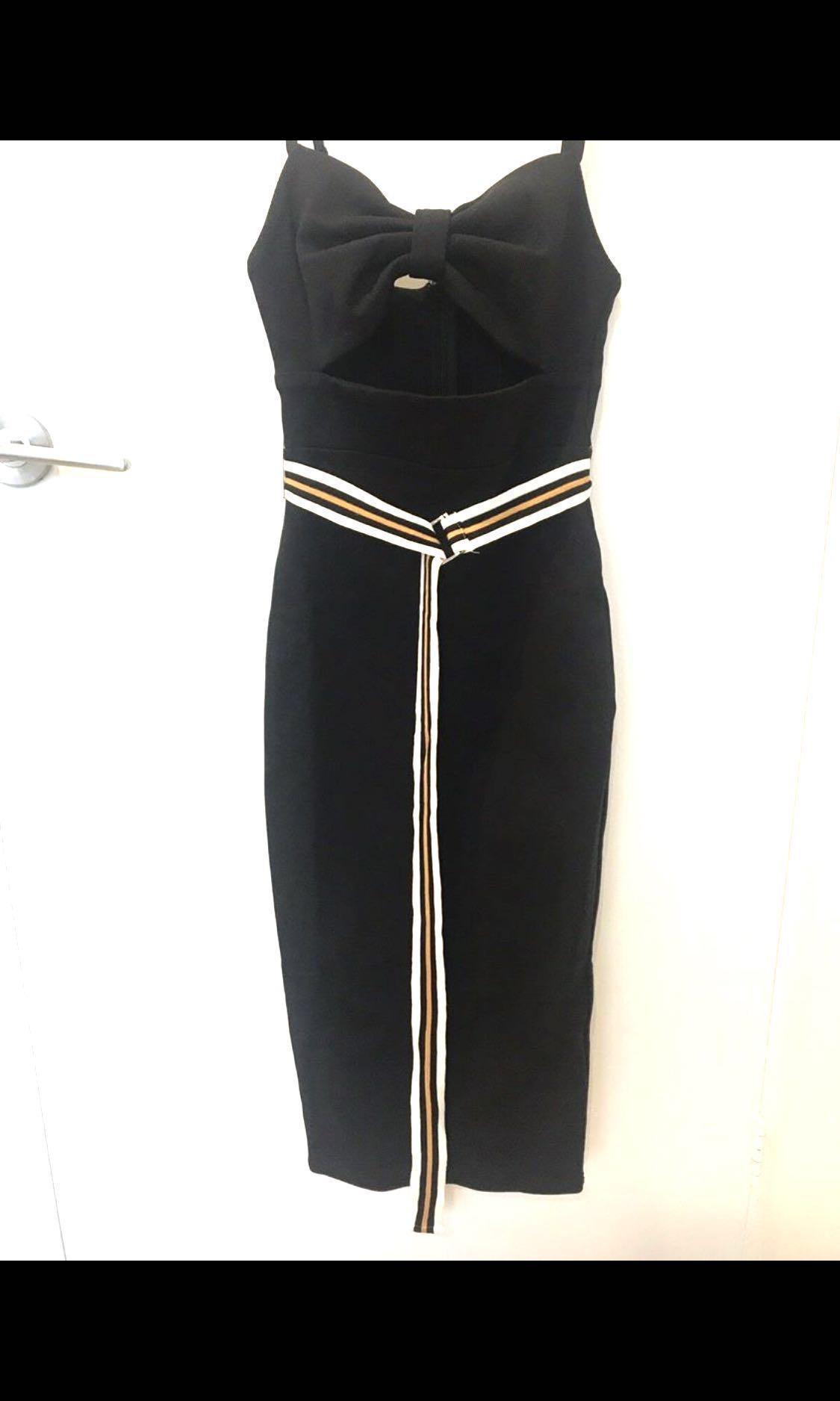 Designer Atoir bandage bow Dress