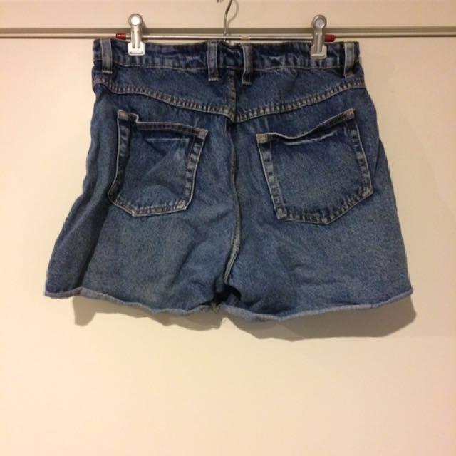 Distressed Boyfriend Style Denim Shorts