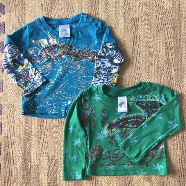 Ed Hardy T-shirts, 3-6 months