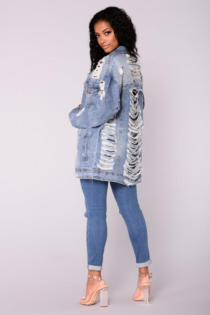 Fashion Nova Krissy Oversized Jacket  BRAND NEW WITH TAGS