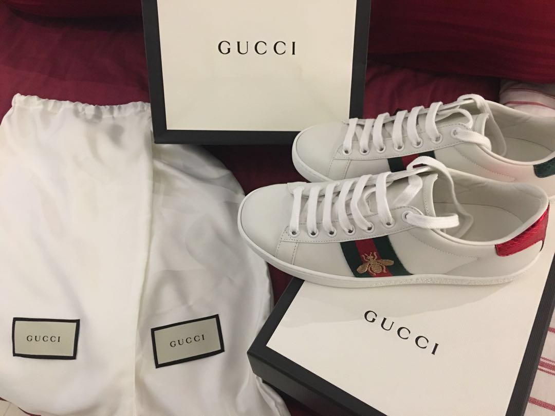 6673b455d Gucci Ace Embroidered sneaker, Luxury, Shoes on Carousell