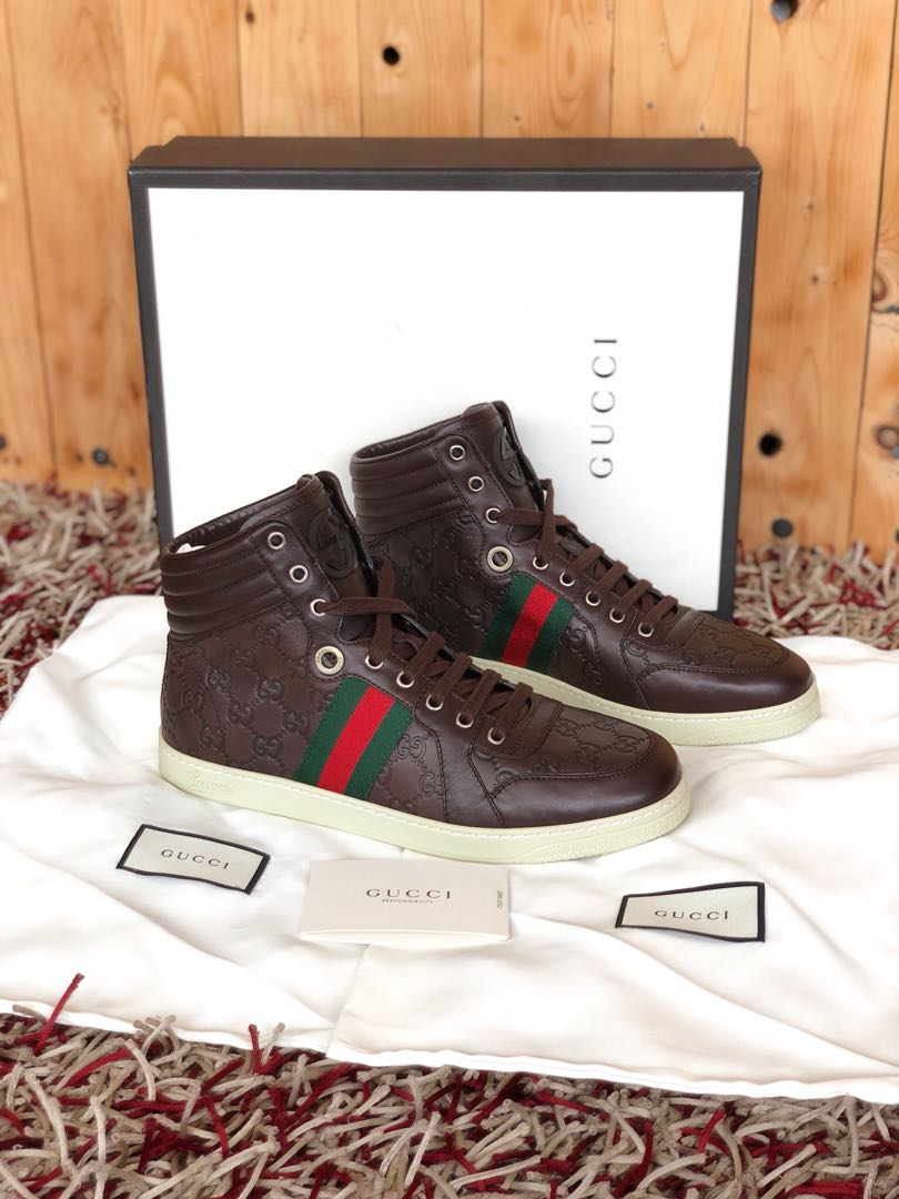 f7252d661be Gucci monogram GG high top sneakers