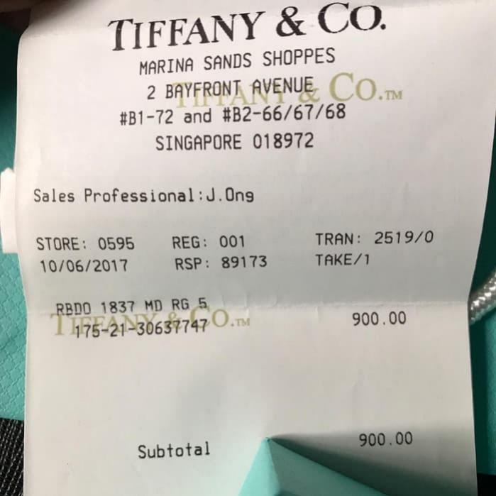 Jual Murah Tiffany&Co Ring ORI 100%