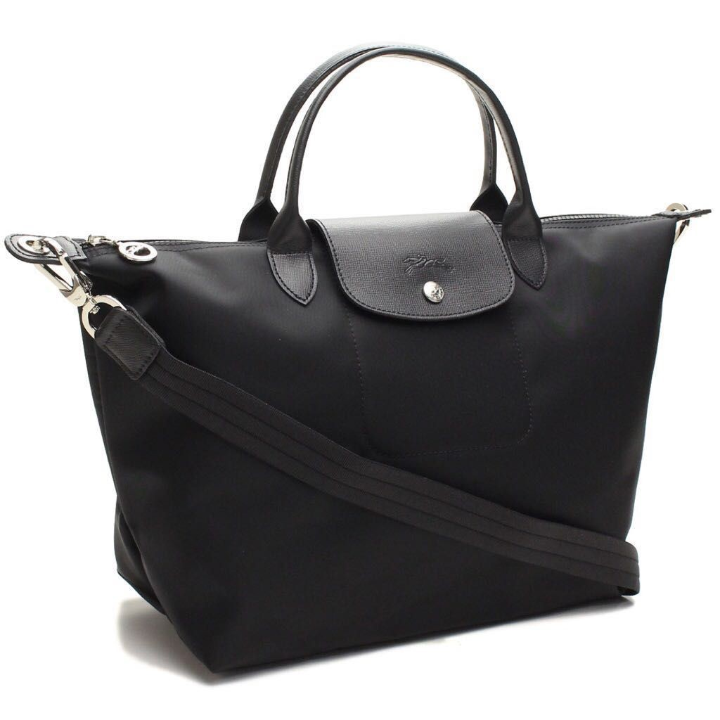 5b03184c4c Longchamp large neo sling bag black 1630, Women's Fashion, Bags ...