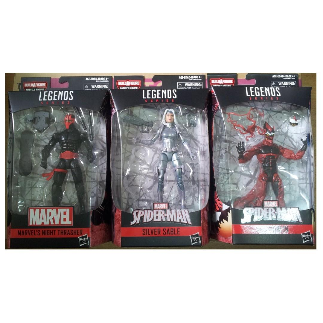 Marvel Legends Spider-Man 6隻 figures 不連BAF ( Black Cat, Puma, Symbiote Spider-Man, Night Thrasher, Silver Sable, Red Goblin )