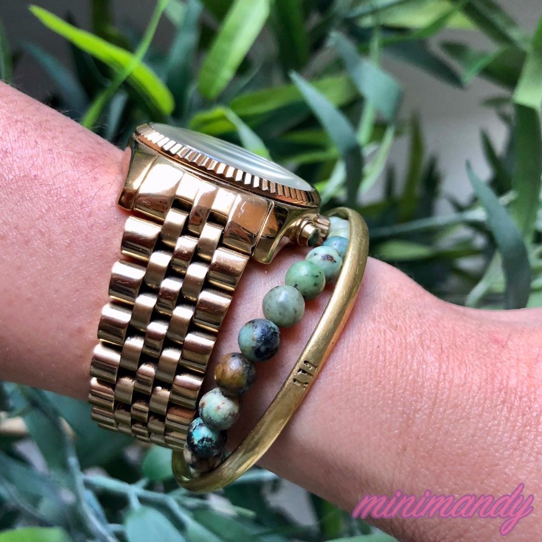 Michael Kors Bradshaw MK5605 Wrist Watch gold vintage authentic golden