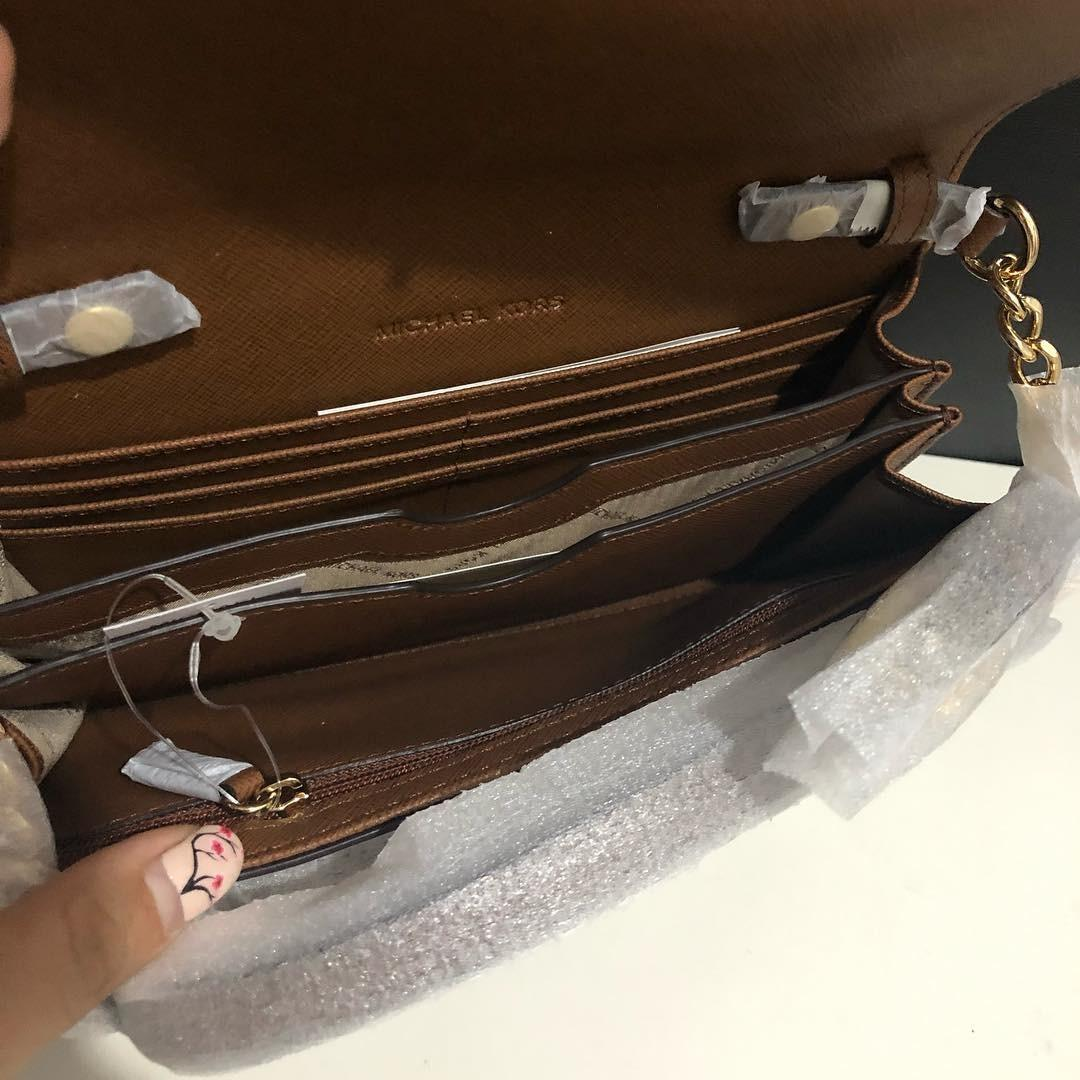 Michael Kors Jetset Large Phone Crossbody sz 20x13 Luggage (removable long strap, can be used as wallet or clutch)