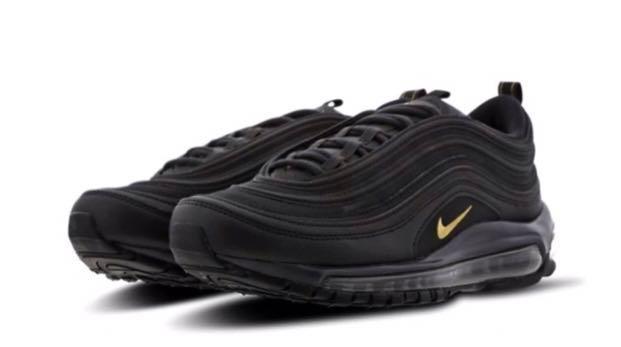 meet 9a0e3 da822 nike air max 97 black and gold, Men's Fashion, Footwear ...
