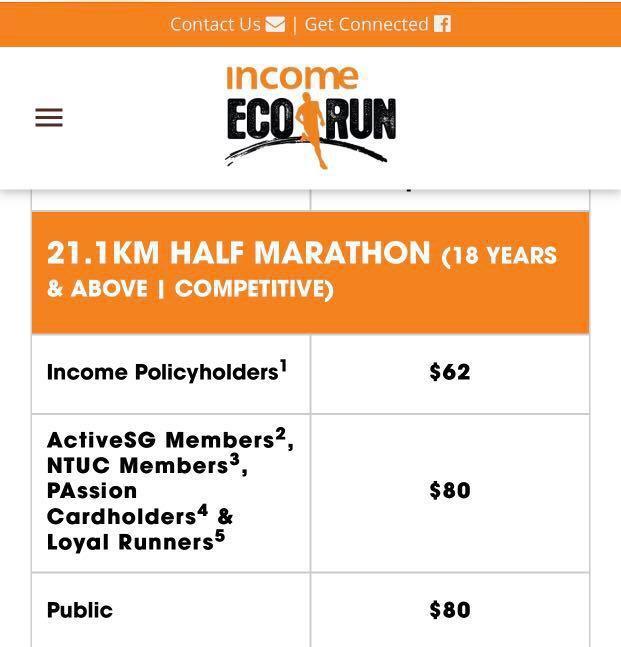 NTUC INCOME ECO RUN 2019 (21.1KM)
