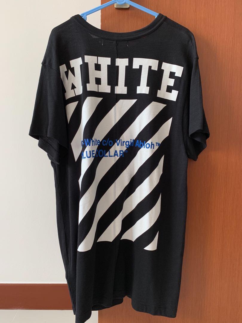 c481b6ba Off White Blue Collar Oversize tee XS, Men's Fashion, Clothes, Tops ...