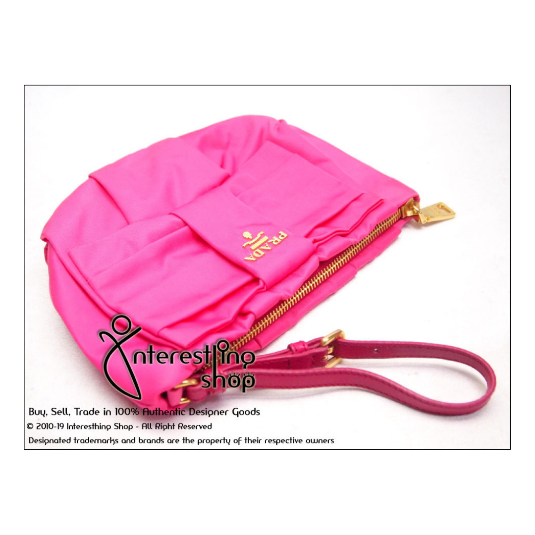f6a0cfa62c24 4784-01 Authentic Pre-Owned Prada 1N1422 Tessuto Bow Pink (NON-NEG ...