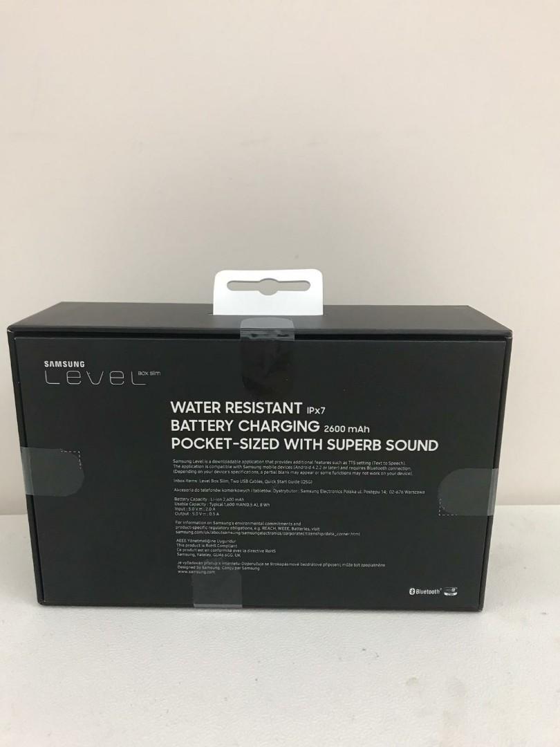 三星Samsung LEVEL BOX Slim (Black) 便攜式 藍牙喇叭