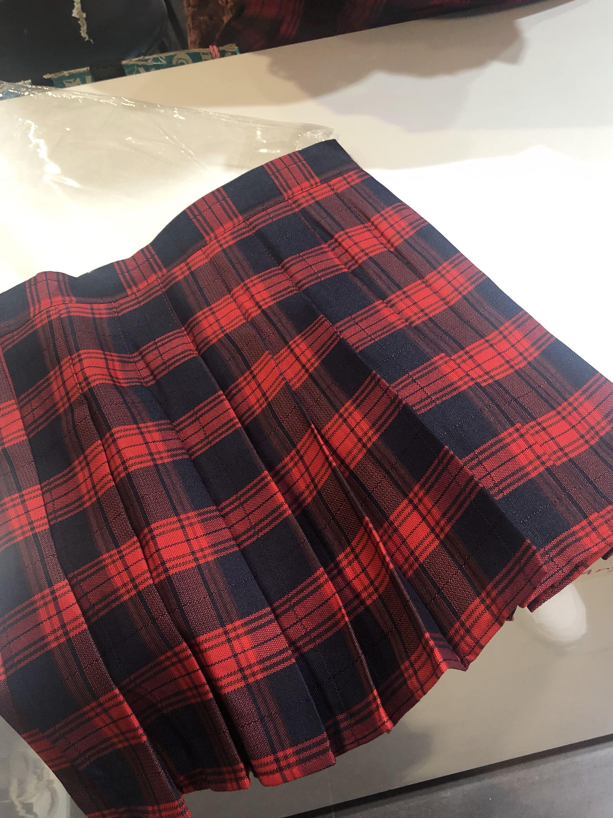 School girl tennis skirt