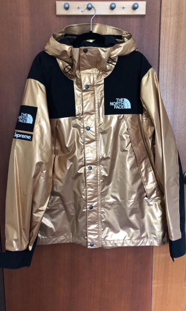 d7e607c6 Supreme The North Face Metallic Mountain Parka Gold, Men's Fashion ...