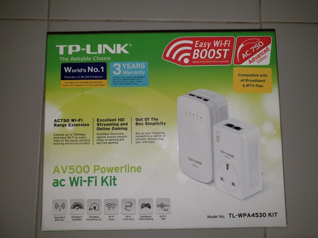 TP-LINK AV500 Powerline with Wi-Fi Kit
