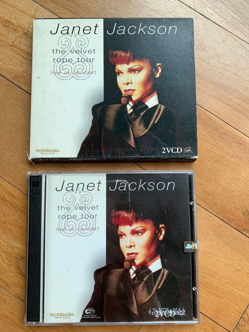 VCD - Janet Jackson, The Velvet Rope Tour (2CDs)