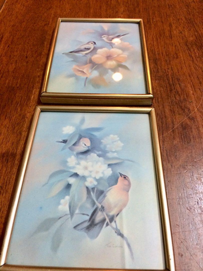 Vintage Lovely Birds Print by Tim Conners